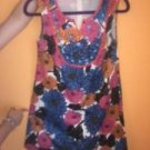 MINI BODEN Floral Print Plastic Button Detail Sleeveless Dress SZ 13-14 Girls