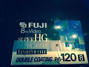 SEALED 8 mm SUPER HG FUJI Video Cassette Tape Film P6-120 8mm 120