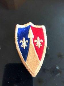 VTG BSA Patch Red Blue Shield Emblem Estate Sale Find Camping Americana