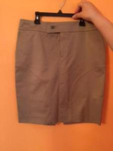 Pre-owned GUCCI TAN Pencil Skirt SZ IT 44 US 10 Made in Italy Career