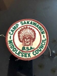 VTG BSA Patch Camp Sakawawin Middlesex Counci Estate Sale Find Camping Americana