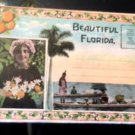 VTG Beautiful Florida1920s postcard foldout Orange Grove Native Indians Blacks