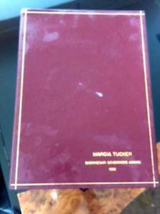 VTG SKOWHEGAN Governors Award 1988 Marcia Tucker New Museum Tudor Crystals Flute