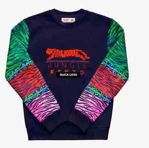 Kenzo x H&M Mens Beaded Sweatshirt Multicolor Tiger SZ XS US SOLD OUT