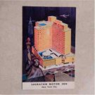 Vtg Postcard Sheraton Motor Inn, 42nd Street At 12th Avenue New York City Litho