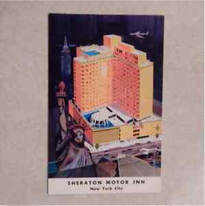 Vtg Postcard Sheraton Motor Inn, 42nd Street At 12th Avenue New York City Litho