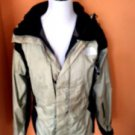 VGC NORTH FACE Beige Black 100% Nylon Gor-tex  Zippered Jacket Hood  Men's SZ S