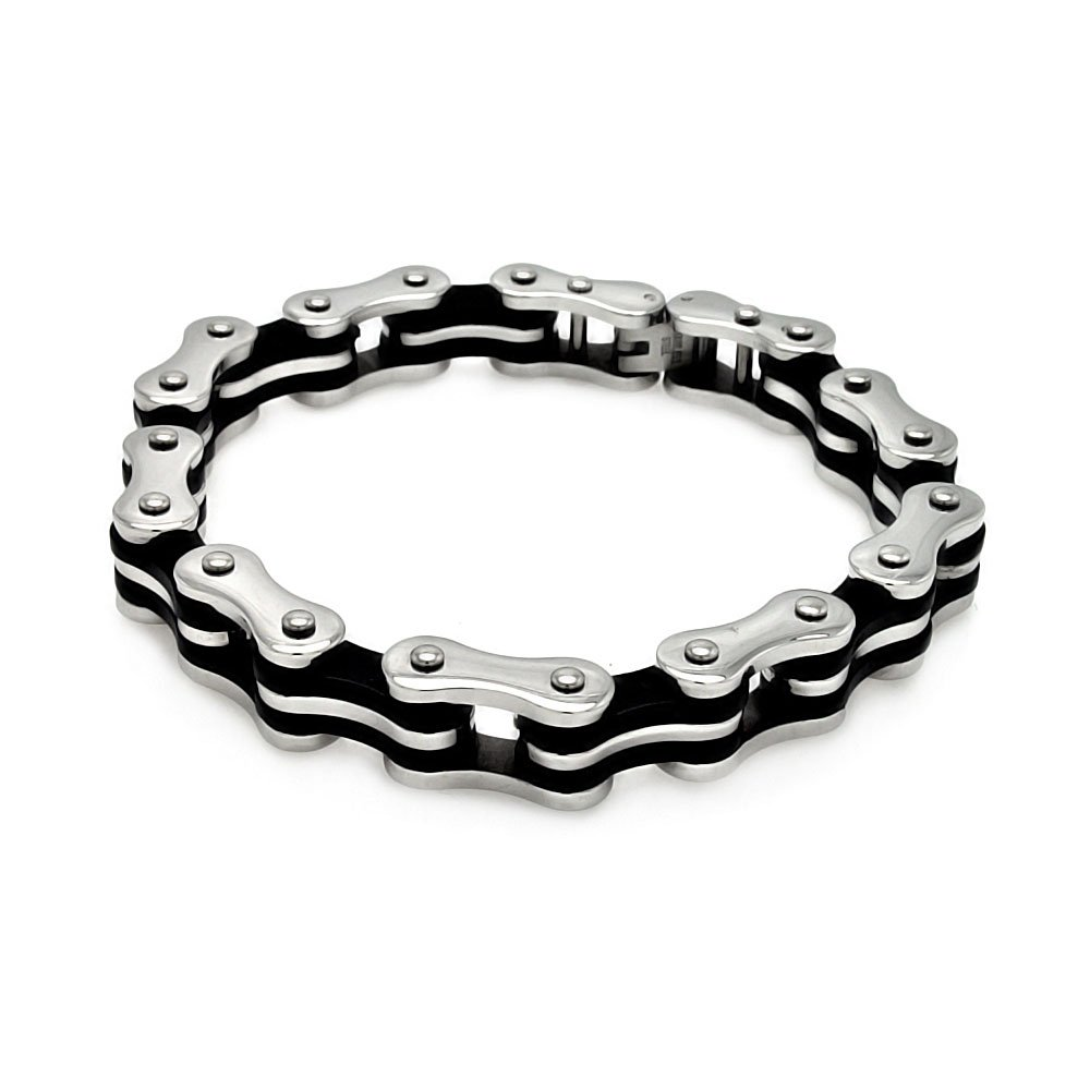 Men's Stainless Steel Bicycle Bike Link 316 Bracelet 567-ssb00181 on Sale