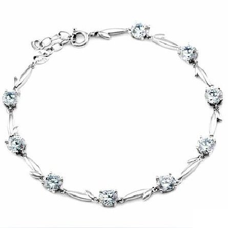 Swiss .925 sterling silver Zirconium Crystal Bracelet Diamond Jewelry for Women's Fashion