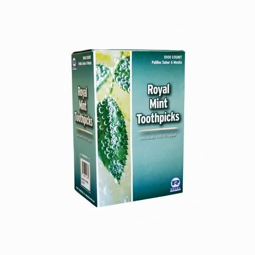 1000 Royal Mint Round Wood Toothpicks Individually Cello Wrapped