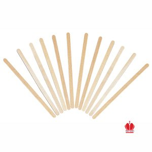 """Goldmax Poly King Wood Wooden Coffee Stirrers, 5.5"""" Long - 1000 Stirrers/Box"""
