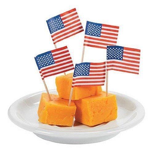 American Flag Picks Toothpicks - 100 per box
