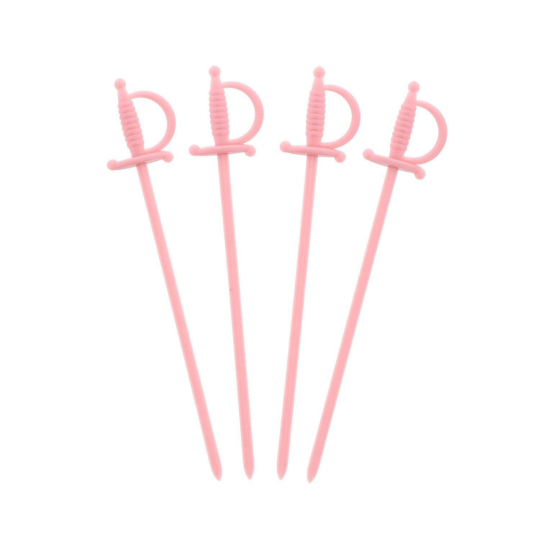 """Royal Paper Pink Plastic Sword 3.25"""" Food Picks - 1000/Box"""