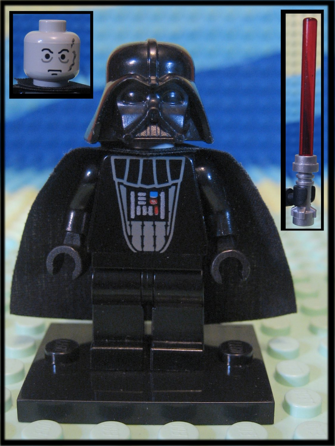 Genuine Authentic Star Wars Darth Vader Lego Minifigure + Lightsaber