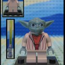 Genuine Authentic Star Wars Yoda Lego Minifigure + Lightsaber