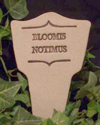 'BLOOMIS NOTIMUS' Humor in the Garden MARKER Decor