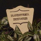 'PLANTAHOLICA INCURABLIS' Humor in the Garden MARKER decor