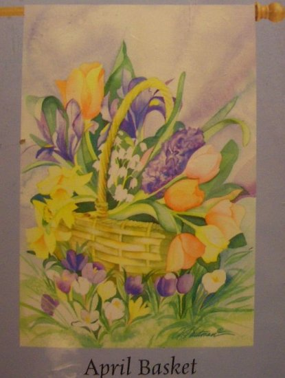 GARDEN FLAG 25.5x38 - April Basket - IMPRESSIONS