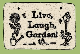'LIVE, LAUGH, ...' Weatherproof SAYINGS Sign/Plaque
