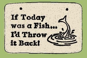 'IF TODAY WAS A FISH' Weatherproof SAYINGS Sign/Plaque