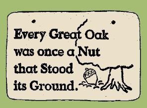 'EVERY GREAT OAK ...' Weatherproof SAYINGS Sign/Plaque