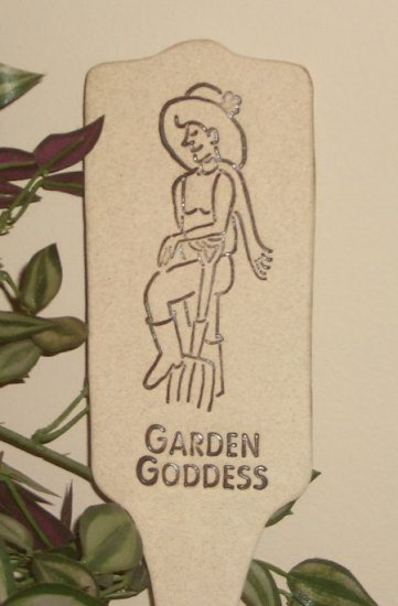 'GARDEN GODDESS' Humor in the Garden MARKERDecor