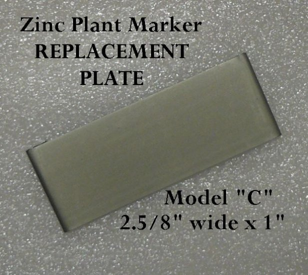 REPLACEMENT PLATE Zinc PLANT GARDEN MARKER STAKE