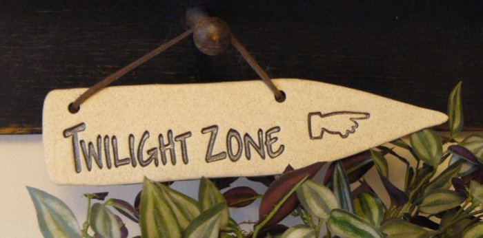 'TWILIGHT ZONE' Home or Garden Decor DETOUR SIGN
