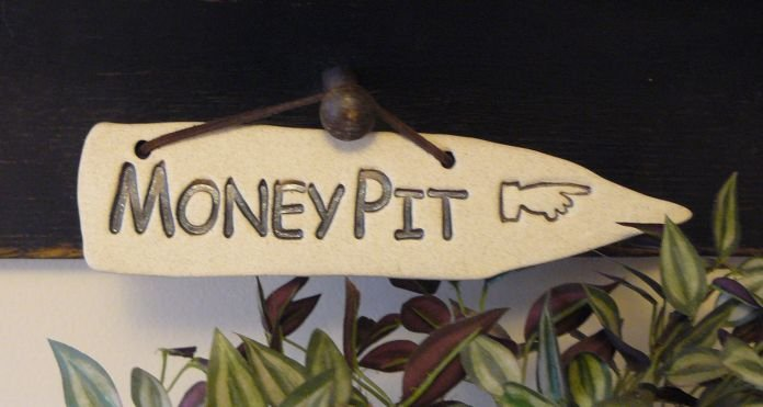'MONEY PIT' Home or Garden decor DETOUR SIGN