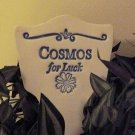 'COSMOS For Luck' Garden Lore MARKER Stoneware