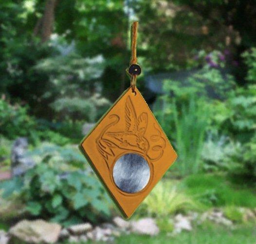 Mirror beauty of Garden with HUMMINGBIRD REFLECTIONS