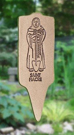 'SAINT FIACRE' Patron saint of Gardeners MARKER Decor