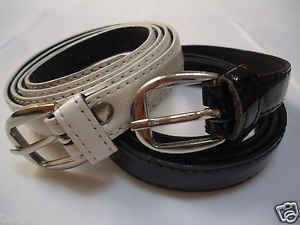 Belts With Round Metal Buckle & Loop