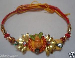 Kalsah Rakhi With Coloring Beads From Teknowear