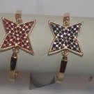 Crystal Star-Shaped Dual Tone Bracelet With Adjustable Chain in Blue/Purple/Pink