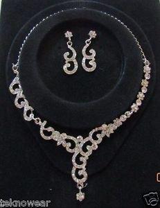 Beatrix Fashionable CZ Necklace Set by Teknowear