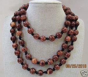 Old Plamwood Round Mala/Necklace, Japa Mala Beads By Teknowear