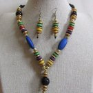 Tribal/Hobo/Strand/Layered/Beach Necklace/Earrings Set Multi Color by Teknowear