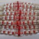 Silver Rakhi in Ruby Red Crystals By Teknowear