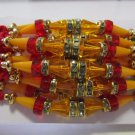 Vrushti Rakhi in Multi Beads & Clear Crystal Stones By Teknowear