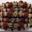 Rudraksh Rakhi With Multi Crystals Stones By Teknowear