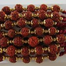 Rudraksh Rakhi With Golden Beads By Teknowear