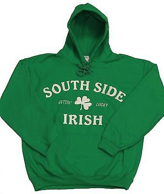 South Side Irish Pullover Hoodie w/ Sewn on Letters