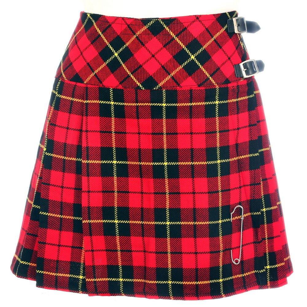 Traditional Wallace Tartan Ladies kilt Highland Tartan Skirts 28 Size Kilt