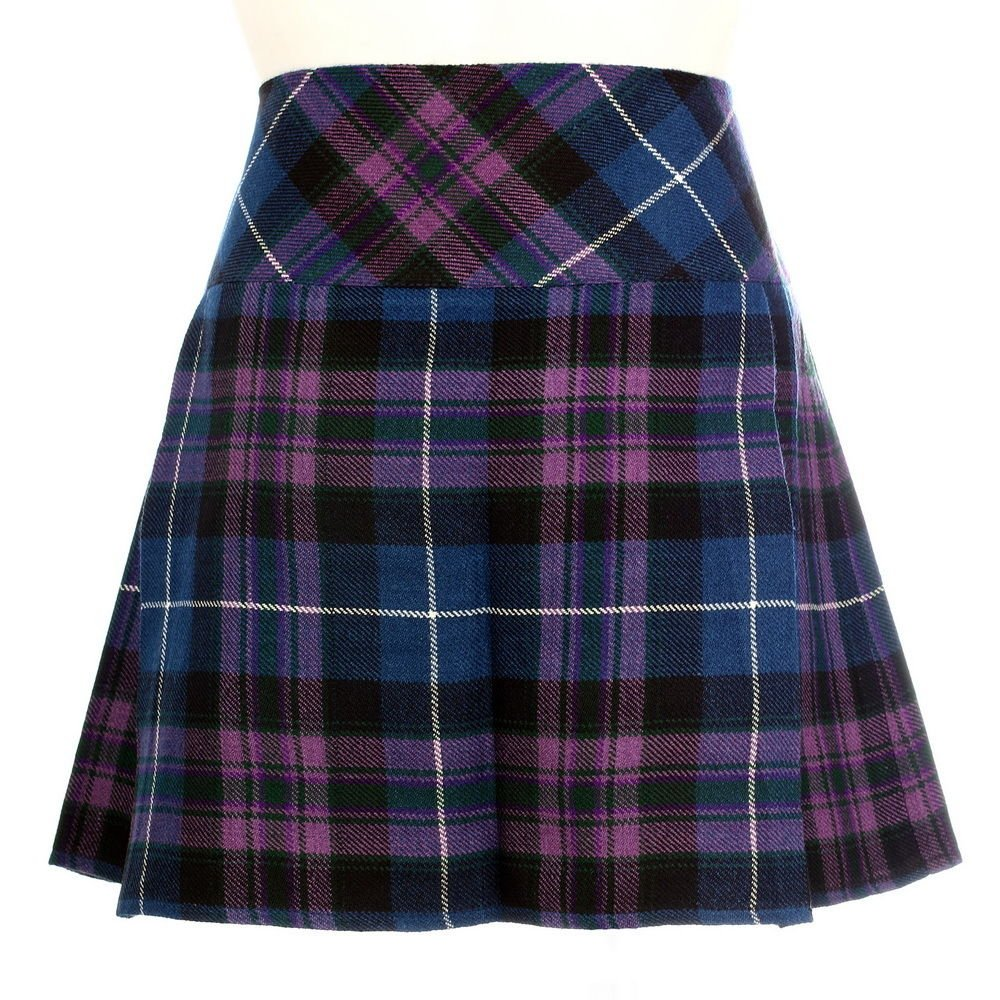 New Ladies Pride of Scotland Scottish Mini Billie Kilt Mod Skirt Fit to 26 Size