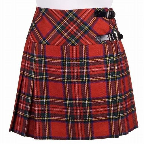 Scottish Royal Stewart Tartan Skirt Highland Mini Billie Kilt Mod Skirt Fit to Size 34