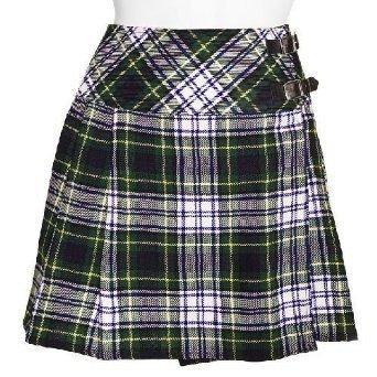 Traditional Dress Gordon Tartan Scottish Mini Billie Kilt Mod Skirt 32 Fit to Waist