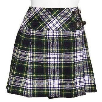 Traditional Dress Gordon Tartan Scottish Mini Billie Kilt Mod Skirt 34 Fit to Waist
