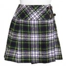 Traditional Dress Gordon Tartan Scottish Mini Billie Kilt Mod Skirt 34 Fit to Waist