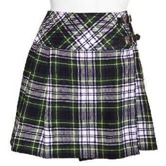 Traditional Dress Gordon Tartan Scottish Mini Billie Kilt Mod Skirt 38 Fit to Waist